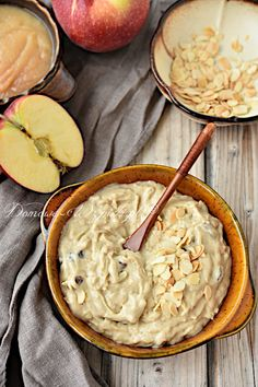 Millet pudding with apple - Fit Polish Recipes, Candy Recipes, My Recipes, Sweet Recipes, I Love Food, Good Food, Yummy Food, Eat Happy, Food To Make