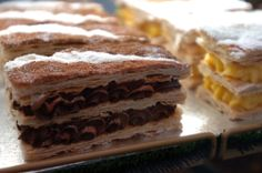 Mille Feuille with chocolate cream #patisserie # bakery