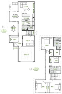 Are you looking for the latest in eco house design? A Noosa energy efficient house plan from Green Homes Australia is exactly what you're looking for. Green House Design, House Front Design, Building Plans, Building A House, Brighton Houses, Storey Homes, Energy Efficient Homes, Facade House, House Roof