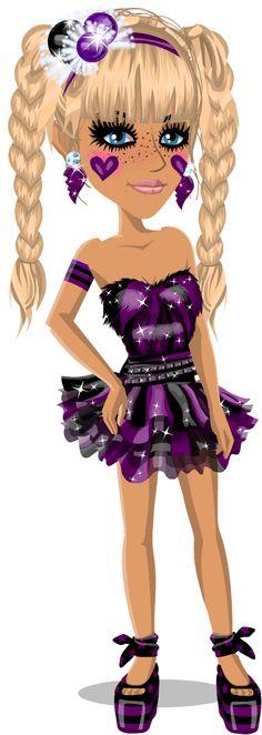 Super Duper Cute Look In Party Purple
