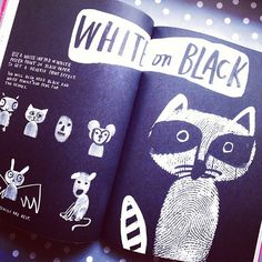 BW fingerprint Raccoon #book #illustration  #fingerprintart  #art  #doodle  #raccoon