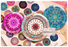 Pinback Flatback Buttons Flair Buttons Instant by PrintCollage