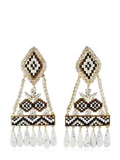 SHOUROUK RAMSES BLACK EARRINGS. #shourouk #earrings