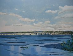Near Montreal Original Landscape Painting on Paper by Paintbox