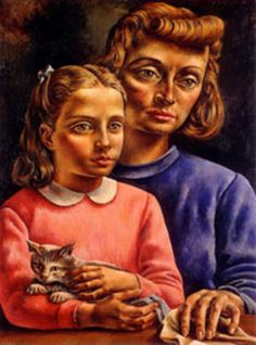 El gato gris, 1936: Obra de Antonio Berni