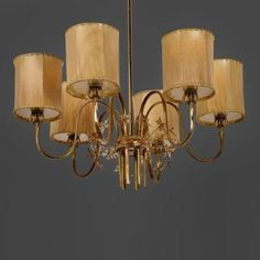 Paavo Tynell Paavo Tynell Chandelier Model 9013 for Taito Oy