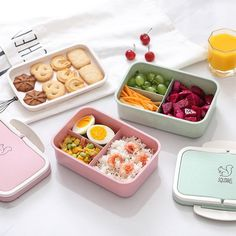 Baispo Microwavable Lunch box Wheat straw Cartoon bento box Portable Eco-friendly Food Container Lunchbox For kids School Picnic Lunch Containers, Food Storage Containers, Lunch Box Bento, Bento Food, Lunch Bags, Lunch Box With Compartments, Adult Lunch Box, Amanda Jones, Snacks Dishes