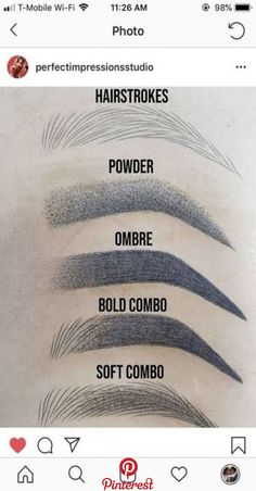 Microblading Eyebrows : What's your favorite brow style? Eyebrow Makeup Tips, Permanent Makeup Eyebrows, Eye Makeup, Eyebrow Pencil, Eyebrow Products, Full Makeup, Eyebrow Tinting, Makeup Application, Makeup Products