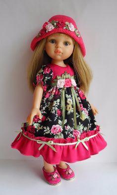 Нарядный комплект для куколки размером 32- 34 см Paola Reina и им подобным / Одежда для кукол / Шопик. Продать купить куклу / Бэйбики. Куклы фото. Одежда для кукол Knitted Romper, Knitted Dolls, Short Outfits, Casual Outfits, Baby Pop, Beautiful Dolls, Beautiful Beautiful, Bear Doll, Flower Dresses