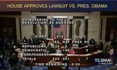 BREAKING: The Frivolous Lawsuit Against President Obama has passed the US House 225-201-7. #P2 #UniteBlue #GOPLawsuit | Justin's Political Corner, http://justinspoliticalcorner.tumblr.com/post/93346519562/breaking-the-frivolous-lawsuit-against-president-obama#.U9l0PvldXh4