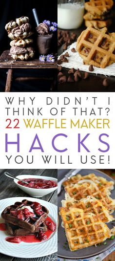 Why Didn't I Think Of That/ 22 Waffle Maker Hacks You Will Use WOW prepare for some delicious surprise treats coming from you simple Waffle Maker! It's all about Waffle Maker Hacks That You will Make for sure! Sandwich Maker Recipes, Breakfast Sandwich Maker, Waffle Maker Recipes, Waffle Bowl Maker, Waffle Cone Recipe Without Maker, Pancake Maker, Savory Waffles, Pancakes And Waffles, Brownie Waffles