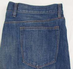 Men Gap 1969 Jeans Relaxed Straight Leg Classic Rise Dark Blue Wash sz 40 X 32…
