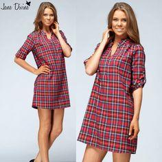 Fall Fashion, Plaid For You Dress/Tunic, by Jane Divine Boutique www.janedivine.com