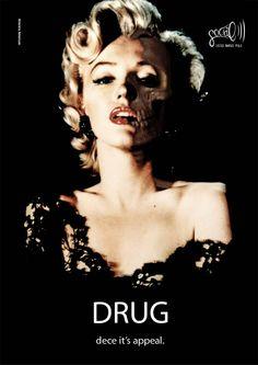 Campagna sociale contro l'assunzione di droghe. Arianna Amoruso, 2012