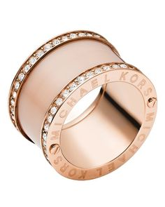 Michael Kors Barrel Ring Jewelry & Accessories - Jewelry - All Jewelry - Bloomingdale's Michael Kors Ring, Michael Kors Rose Gold, Jewelry Rings, Jewelry Accessories, Jewellery, Gold Jewelry, Luxury Jewelry, Jewelry Sets, Ring Rosegold