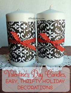 Valentines day candl