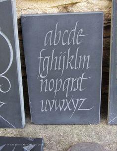 Jon Bush. alphabet 6, slate 2014