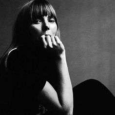 Joni Mitchell Black Dress, 1968. Jack Robinson. Silver gelatin resin print