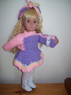 Free crochet pattern for 18 inch or American Girl Doll.