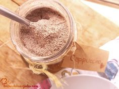 Cappuccino Powder - Delicious and Creamy!, Food And Drinks, Delicious cappuccino powder! Makes a lot, great for gifting, and very very tasty! Cappuccino Recipe, Cappuccino Machine, Drink Menu, Food And Drink, Homemade Quiche, Best Organic Coffee, Peach Dumplings, Hot Chocolate Coffee, Sweet Factory