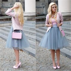 4 Layers Long Tulle Skirt Knee Length Women Spring Summer Style Party Skirt in Clothing, Shoes & Accessories, Women's Clothing, Skirts Grey Tulle Skirt, Tulle Dress, Tulle Skirts, Mode Outfits, Skirt Outfits, Tule Skirt Outfit, Midi Skirt, Dress Shoes, Pleated Skirt