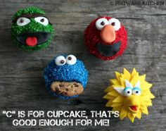 Although not made for National Cupcake week, it's always cupcake week with Hannah at ProWare Kitchen. Her latest, the Sesame Street Gang. Cupcake, Christmas Ornaments, Street, Holiday Decor, Kitchen, Fun, Design, Cooking, Cupcakes