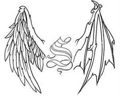 Angel Demon Wings Tattoo... but without the s