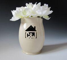 INFO on Housewarming or Wedding Gift  House Monogram by MaidOfClay