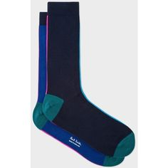 Paul Smith Men's Navy And Royal Blue Vertical Stripe Socks ($33) ❤ liked on Polyvore featuring men's fashion, men's clothing, men's socks, navy, mens navy blue socks, mens striped socks, mens socks, mens navy socks and paul smith men's socks