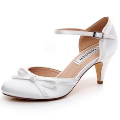 175a6aa1fc15 LUXVEER Ivory Wedding Shoes Women Sandals with Bowknot Bridal Shoes Women  Shoes Low Heels 2 -- Check out the image by visiting the link.