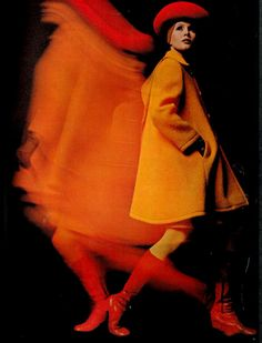 #remodelistaHoCOrangeBoard | Orange is always in style. Vogue, UK, 1969.