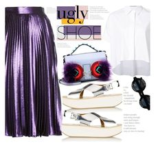 """""""Ugly Shoes"""" by fattie-zara ❤ liked on Polyvore featuring Alice + Olivia, Fendi, Chanel and uglyshoes"""