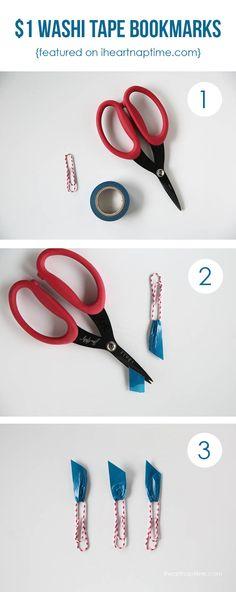 DIY washi tape bookmarks