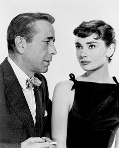 Audrey Hepburn and Humphrey Bogart for Sabrina, 1954