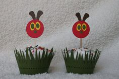 Very Hungry Caterpillar Cupcake Toppers via Etsy.