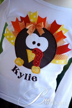 cute turkey applique   # Pin++ for Pinterest #
