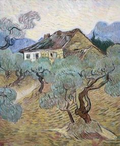 Vincent van Gogh ~ The White Cottage among Olive Trees, 1889 (63 pieces)