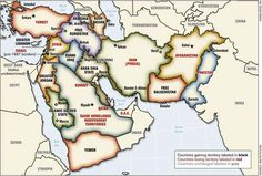 Political map of the Middle East proposed by Lieutenant-Colonel Ralph Peters