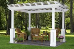 White Pergola Design Idea