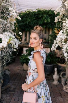 Gal Meets Glam My Favorite Pairs of Statement Earrings - Vivetta dress, Mark Cross Bag, Aquazzura x De Gournay Loafers, Rebecca De Ravenel Earrings Spring Look, Spring Summer Fashion, Spring Outfits, Spring Style, Winter Fashion, Dressy Outfits, Fashion Outfits, Preppy Fashion, Fashion Models