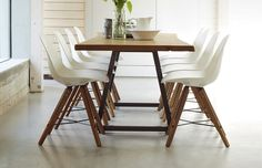 If you prefer an eclectic mix, why not blend our Kirin Live Edge table with the wondrous Theo Shell Dining Chair.