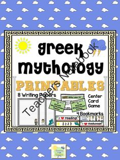 greek mythology webquest for kids great website mythology  greek mythology printables from teachinginthesunshine on teachersnotebook com 19 pages a fun
