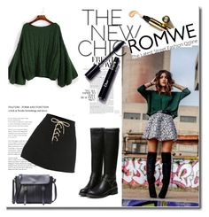 """Romwe 8/IX"" by nermina-okanovic ❤ liked on Polyvore featuring romwe"