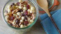 Whole Grain Walnut Trail Mix - California Walnuts Healthy Sweets, Healthy Snacks, Healthy Eating, Clean Eating, Healthy Recipes, Appetizer Recipes, Snack Recipes, Delicious Recipes, Appetizers