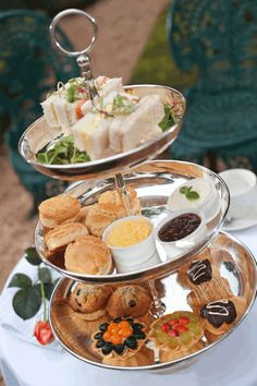High tea at Budmarsh Country Lodge. Photo courtesy of the restaurant. Tea Etiquette, Colored Sugar, Clotted Cream, High Tea, Macarons, Country, Eat, Restaurants, Graduation