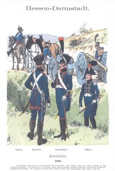 Vol 08 - Pl 22 - Hessen-Darmstadt. Artillerie. 1809.