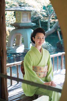 Beautiful Spring Green Kimono