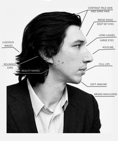 Adam Driver's Face Starwars, Byronic Hero, Deep Set Eyes, Kylo Ren Adam Driver, Star Wars Kylo Ren, Large Eyes, The Force Is Strong, Raining Men, Long Lashes