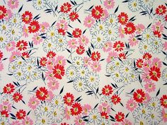 pretty bright vintage fabric, make a cute little girls dress