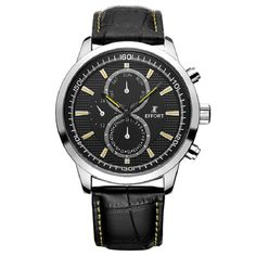 54.99$  Buy here - http://alizb8.shopchina.info/go.php?t=32608792396 - EFFORT Luxury watches Mens Watches Men Chronograph Pilot Aviator WristWatches Sub Dials with 6 hands Luminous Sapphire  #magazine